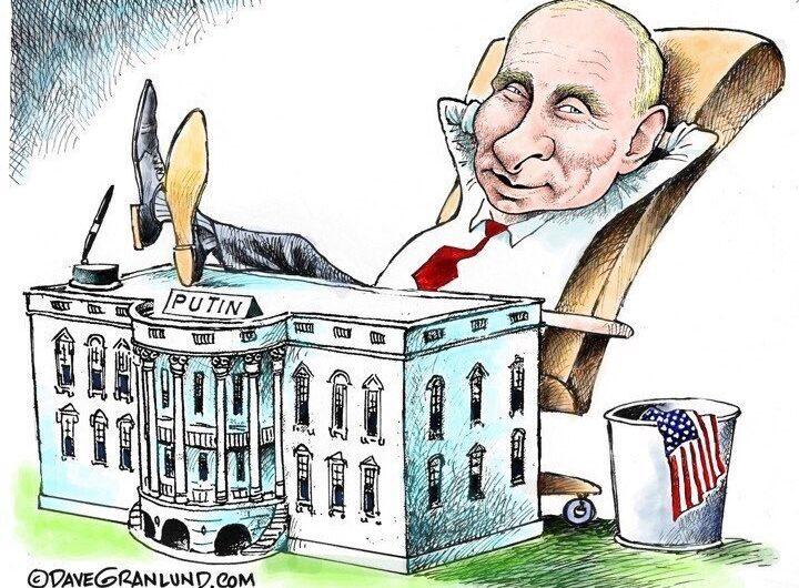 Подборка лучших карикатур про Путина В.В.