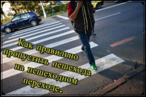 Read more about the article Как правильно пропустить пешехода на пешеходном переходе.