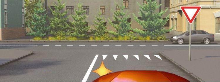 Вопрос 5 билет 1 ПДД. Вы намерены повернуть налево. Где следует остановиться, чтобы уступить дорогу легковому автомобилю?