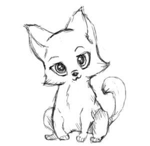 Read more about the article Рисуем милого котенка, кошку поэтапно карандашом